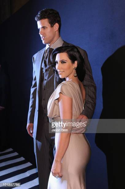 NBA player Kris Humphries and TV personality Kim Kardashian attend a welcome party for newlyweds Kim Kardashian and Kris Humphries hosted by Colin...