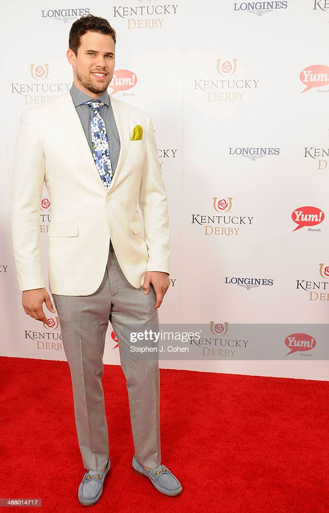NBA player <a gi-track='captionPersonalityLinkClicked' href=/galleries/search?phrase=Kris+Humphries&family=editorial&specificpeople=209199 ng-click='$event.stopPropagation()'>Kris Humphries</a> attends 140th Kentucky Derby at Churchill Downs on May 3, 2014 in Louisville, Kentucky.