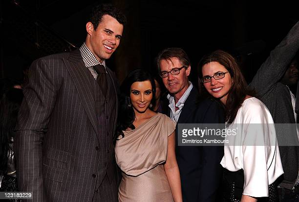 NBA player Kris Humphries TV personality Kim Kardashian actor Kyle MacLachlan and Desiree Gruber attend A Night of Style Glamour to welcome newlyweds...