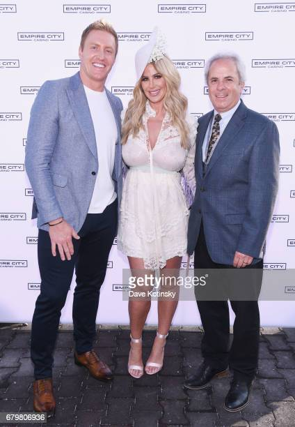 NFL Player Kroy Biermann TV Personality Kim Zolciak and VP and COO of Empire City Casino Bob Galterio attend as Kim Zolciak hosts the Kentucky Derby...