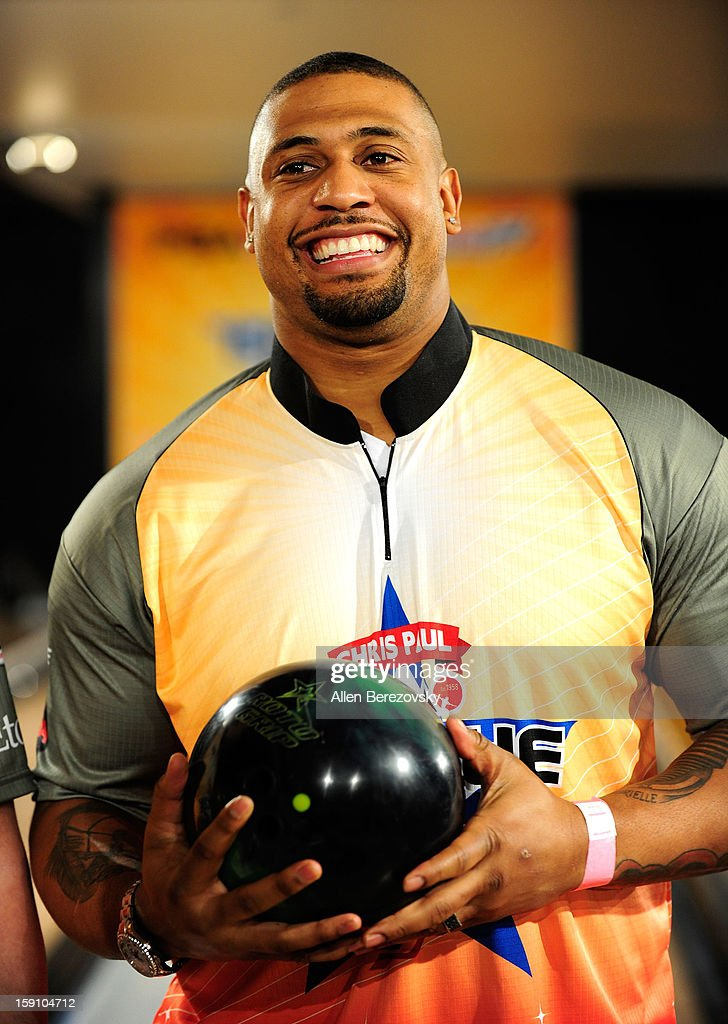 NFL player LaMarr Woodley attends the 5th annual Chris Paul PBA All-Stars Invitational hosted by LA Clippers star guard Chris Paul at Lucky Strike Lanes at L.A. Live on January 7, 2013 in Los Angeles, California.