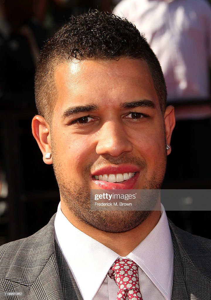 NBA player <a gi-track='captionPersonalityLinkClicked' href=/galleries/search?phrase=Landry+Fields&family=editorial&specificpeople=4184645 ng-click='$event.stopPropagation()'>Landry Fields</a> arrives at The 2011 ESPY Awards at Nokia Theatre L.A. Live on July 13, 2011 in Los Angeles, California.