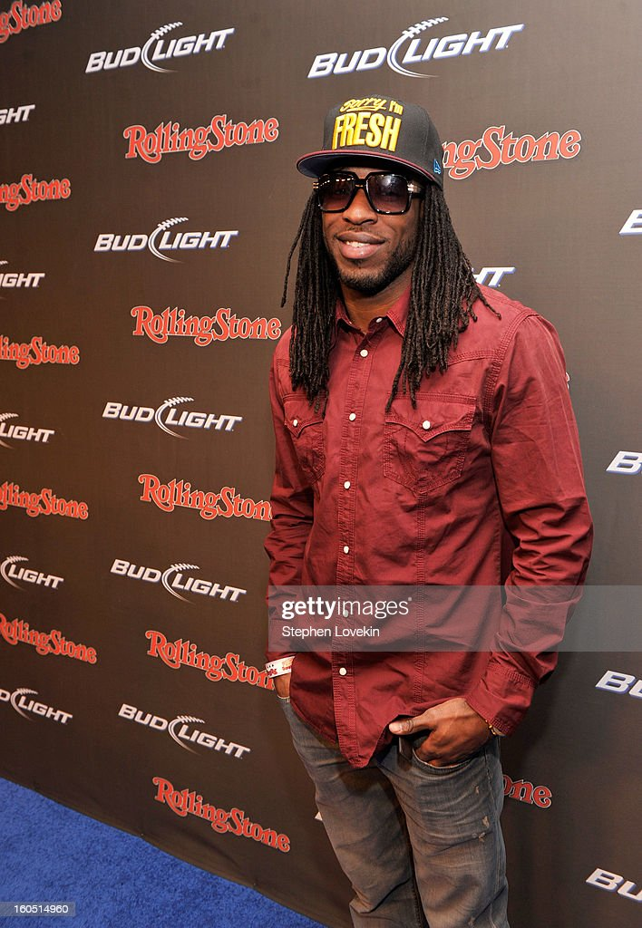 NFL player <a gi-track='captionPersonalityLinkClicked' href=/galleries/search?phrase=LaQuan+Williams&family=editorial&specificpeople=4524071 ng-click='$event.stopPropagation()'>LaQuan Williams</a> of the Baltimore Ravens arrives at the Rolling Stone LIVE party held at the Bud Light Hotel on February 1, 2013 in New Orleans, Louisiana.