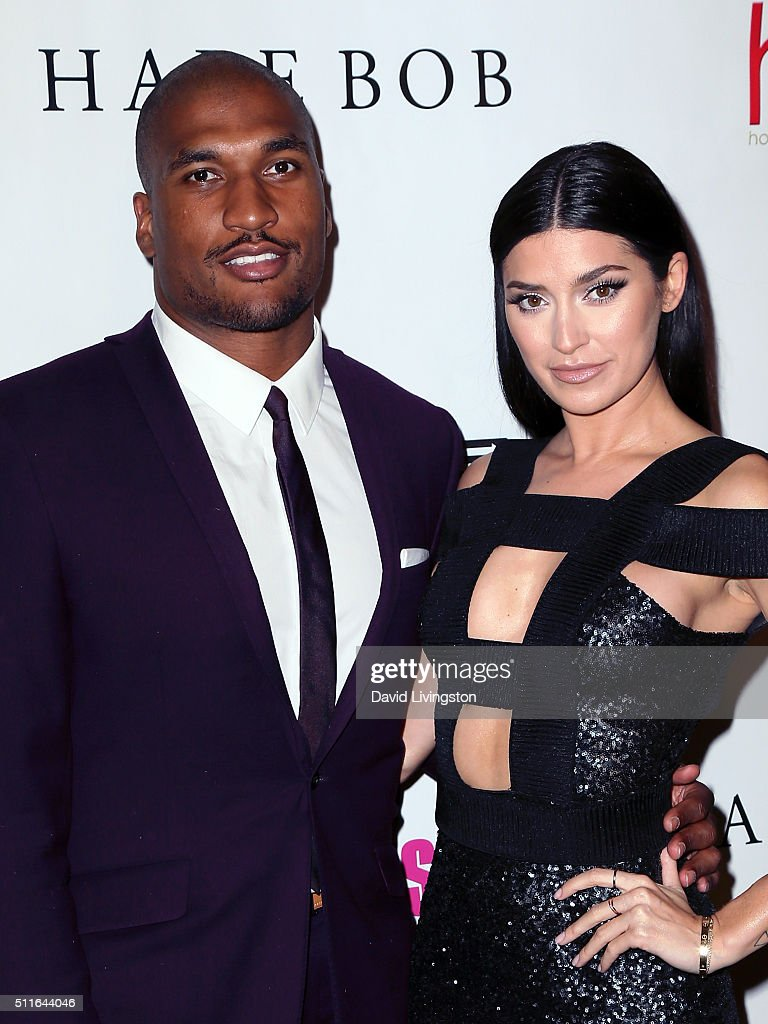 NFL player Larry English and TV personality Nicole Williams attend the 2nd Annual Hollywood Beauty Awards benefiting Children's Hospital Los Angeles...