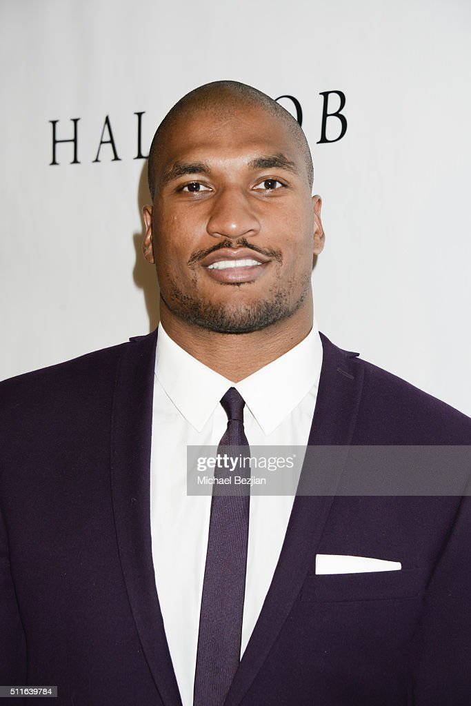 NFL player Larry English arrives at the 2nd Annual Hollywood Beauty Awards Benefiting Children's Hospital Los Angeles at Avalon Hollywood on February...