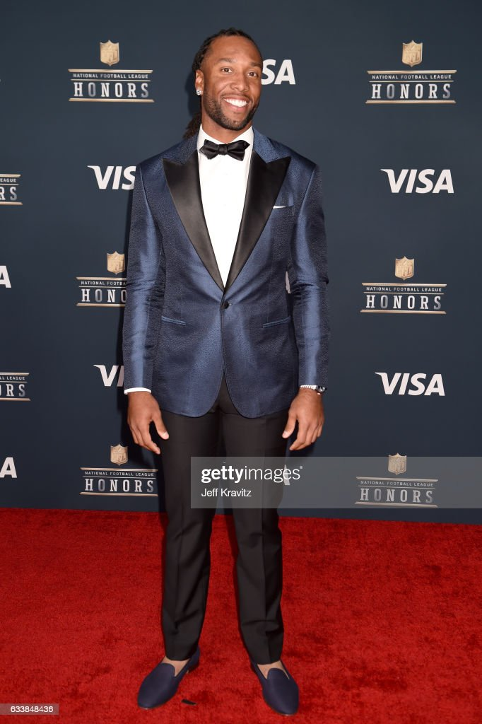 NFL player Larry Fitzgerald attends 6th Annual NFL Honors at Wortham Theater Center on February 4, 2017 in Houston, Texas.