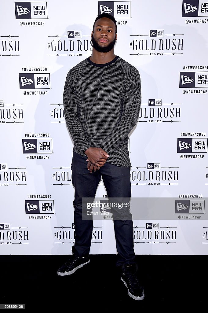 NFL player Latavius Murray attends the New Era Super Bowl party at The Battery on February 6, 2016 in San Francisco, California.