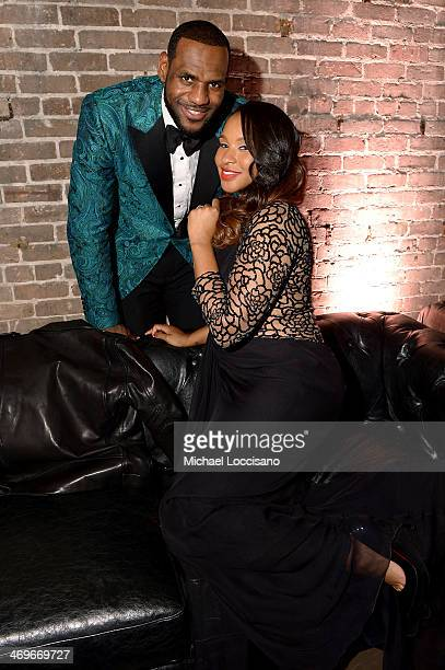 Player LeBron James and Savannah Brinson attend GQ LeBron James NBA All Star Party Sponsored By Samsung Galaxy And Beats at Ogden Museum's Patrick F...