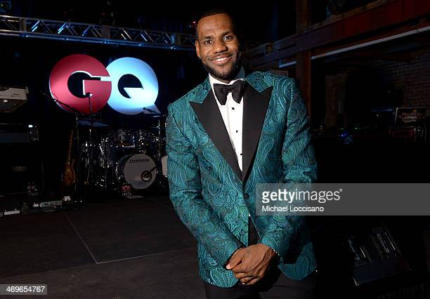 NBA player LeBron James attends GQ LeBron James NBA All Star Party Sponsored By Samsung Galaxy And Beats at Ogden Museum's Patrick F Taylor Library...