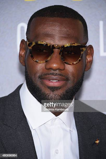 NBA player LeBron James attends the 'Trainwreck' New York Premiere at Alice Tully Hall on July 14 2015 in New York City