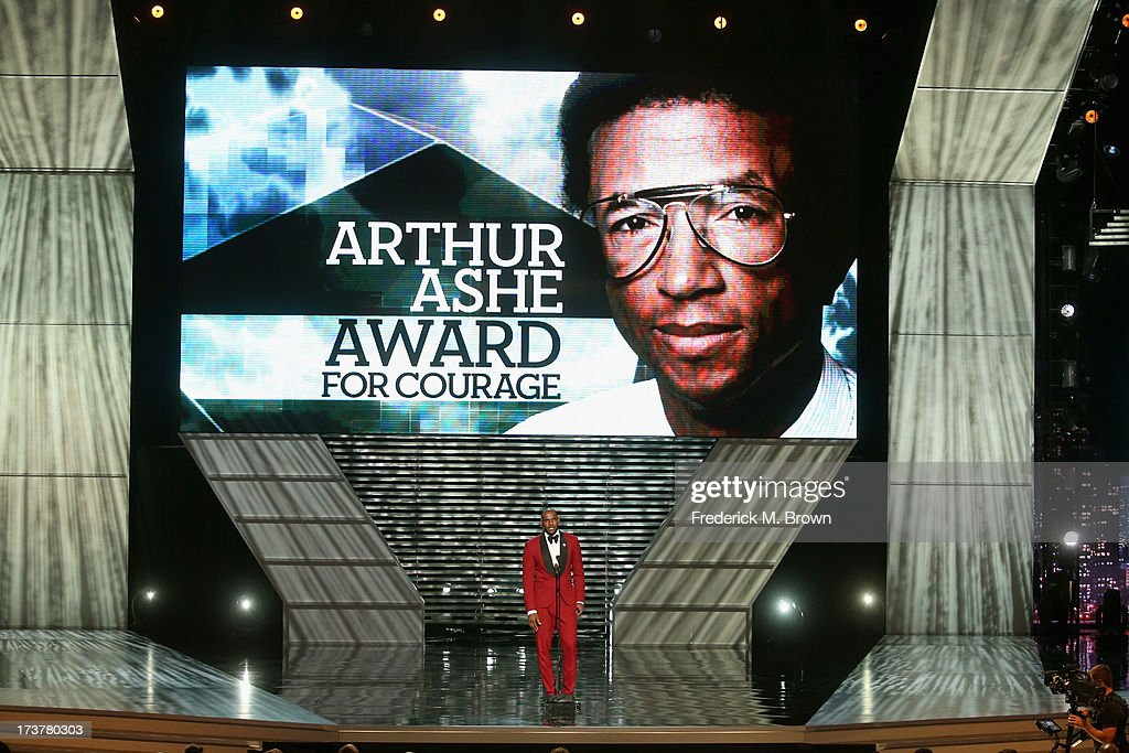 NBA player Lebron James onstage after presenting the Arthur Ashe Courage Award at The 2013 ESPY Awards at Nokia Theatre L.A. Live on July 17, 2013 in Los Angeles, California.