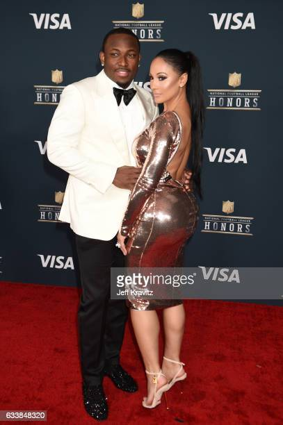 NFL player LeSean McCoy and Delicia Cordon attend 6th Annual NFL Honors at Wortham Theater Center on February 4 2017 in Houston Texas