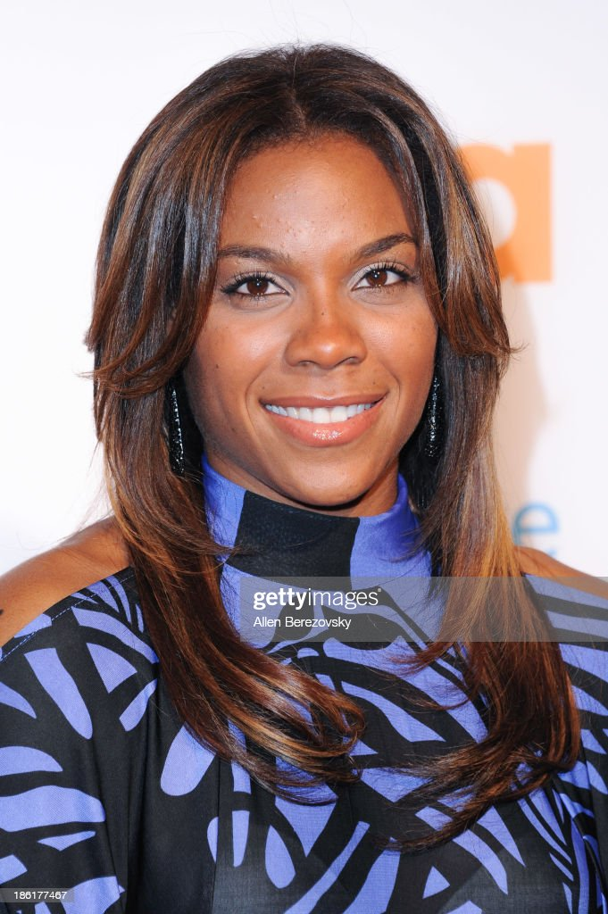 WNBA player Lindsey Harding arrives at the 'Modern Family' Fan Appreciation Day hosted by USA Network at Westwood Village on October 28 2013 in Los...