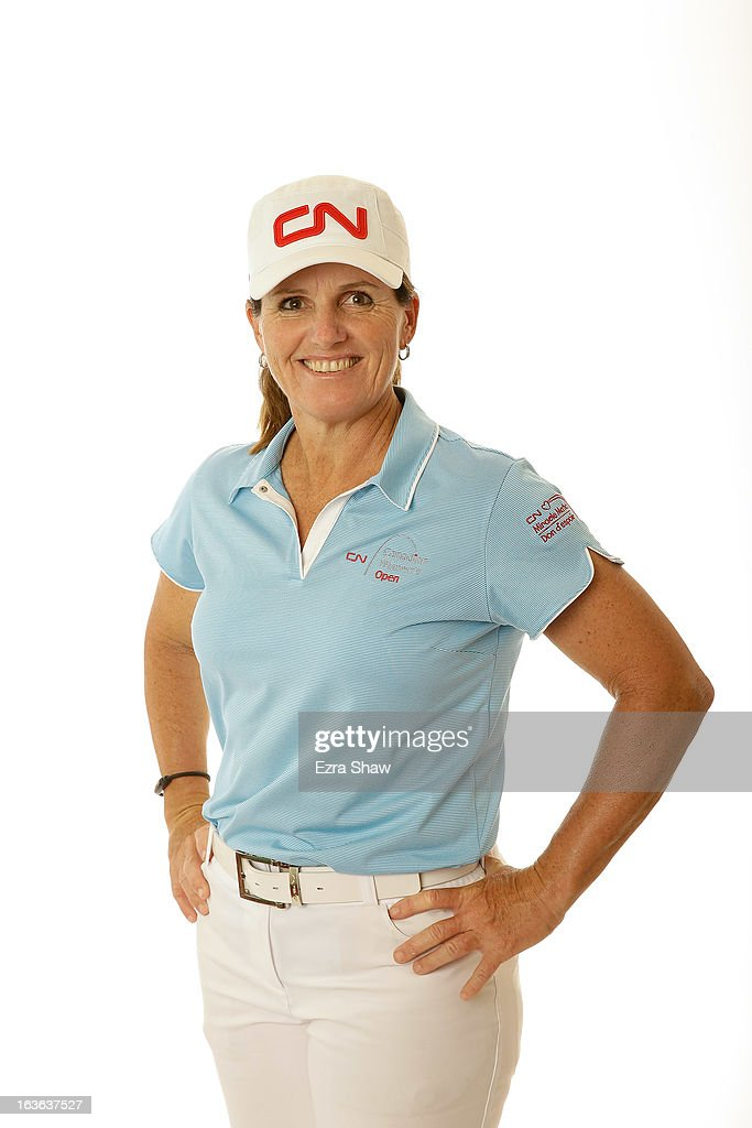 LPGA player Lorie Kane of Canada poses for a portrait prior to the start of the RR Donnelley Founders Cup at the JW Marriott Desert Ridge Resort on March 13, 2013 in Phoenix, Arizona.