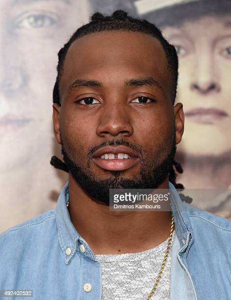 NFL player Marcus Williams attends the 'Suffragette' New York Premiere at The Paris Theatre on October 12 2015 in New York City
