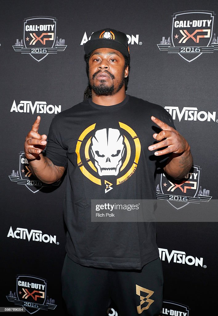 NFL player Marshawn Lynch attends The Ultimate Fan Experience, Call Of Duty XP 2016 presented by Activision at The Forum on September 2, 2016 in Inglewood, California.