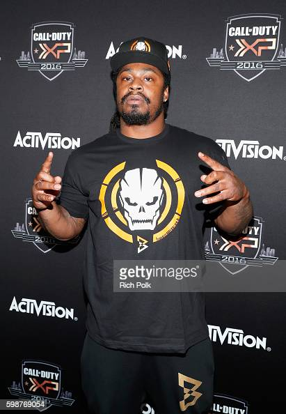NFL player Marshawn Lynch attends The Ultimate Fan Experience Call Of Duty XP 2016 presented by Activision at The Forum on September 2 2016 in...