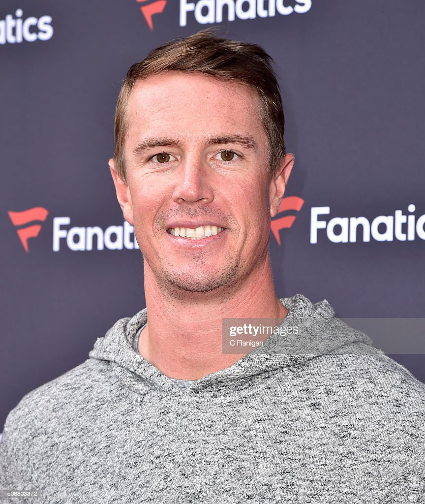 NFL player <a gi-track='captionPersonalityLinkClicked' href=/galleries/search?phrase=Matt+Ryan+-+Football+americano&family=editorial&specificpeople=4951318 ng-click='$event.stopPropagation()'>Matt Ryan</a> attends Fanatics Super Bowl Party on February 6, 2016 in San Francisco, California.