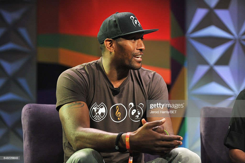 NBA player Metta World Peace speaks at the