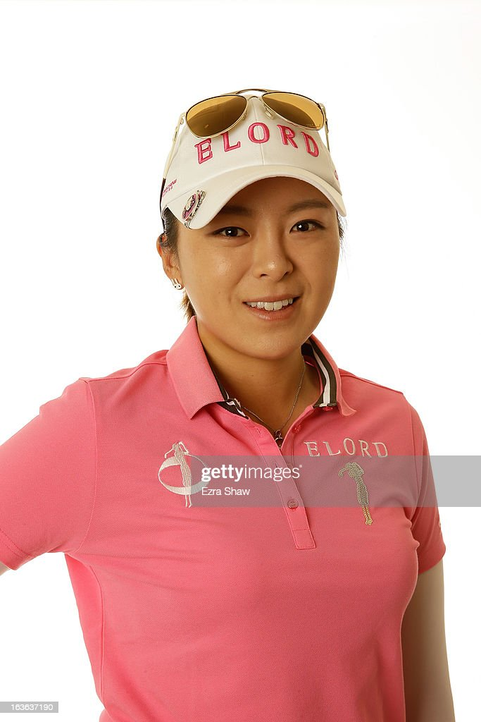 LPGA player Mi Jung Hur of South Korea poses for a portrait prior to the start of the RR Donnelley Founders Cup at the JW Marriott Desert Ridge Resort on March 13, 2013 in Phoenix, Arizona.