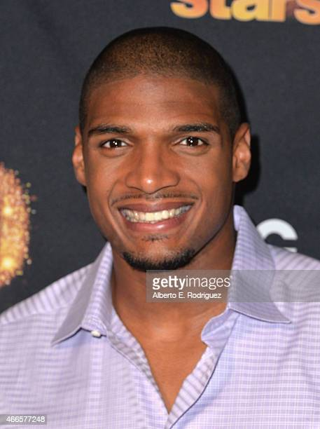 NFL player Michael Sam attends the premiere of ABC's 'Dancing With The Stars' season 20 at HYDE Sunset Kitchen Cocktails on March 16 2015 in West...