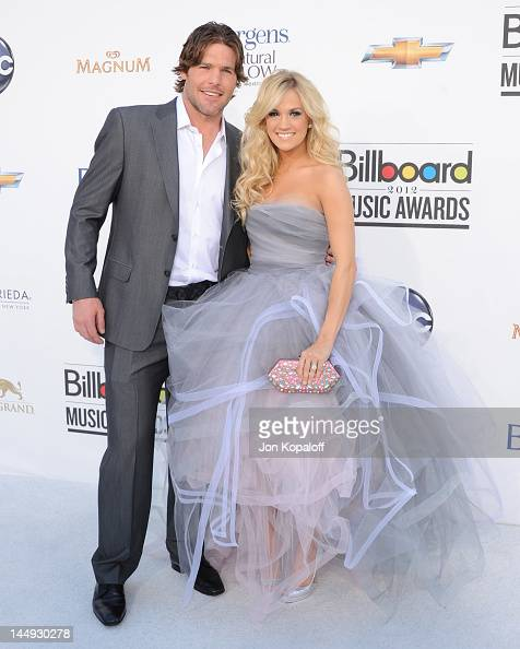 Player Mike Fisher and Singer Carrie Underwood arrive at the 2012 Billboard Music Awards held at the MGM Grand Garden Arena on May 20 2012 in Las...