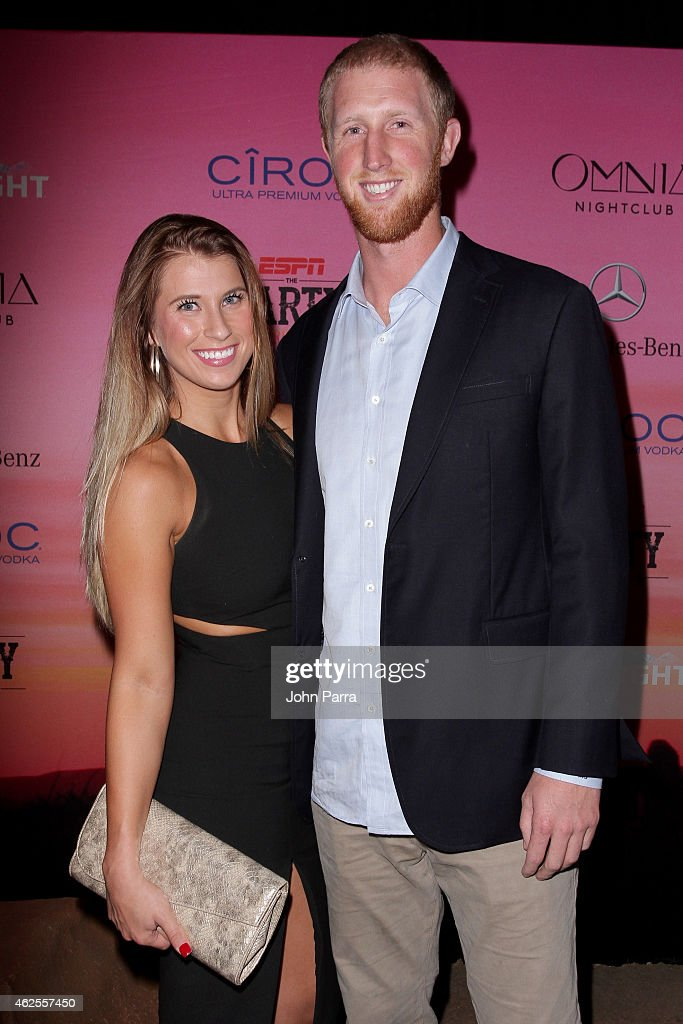 NFL player Mike Glennon (R) attends ESPN the Party at WestWorld of Scottsdale on January 30, 2015 in Scottsdale, Arizona.