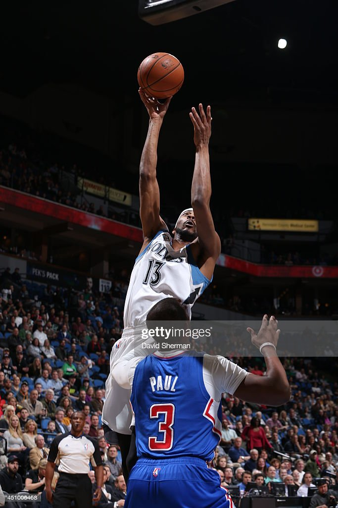 Player name # of the Los Angeles Clippers against player name # of the Minnesota Timberwolves during the game on March 31, 2014 at Target Center in Minneapolis, Minnesota.