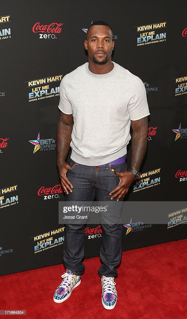 NFL player Nic Harris attends Movie Premiere 'Let Me Explain' with Kevin Hart during the 2013 BET Experience at Regal Cinemas L.A. Live on June 27, 2013 in Los Angeles, California.