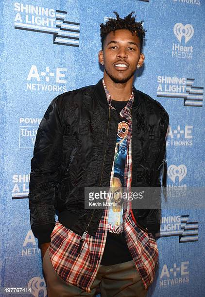 NBA player Nick Young of the Los Angeles Lakers attends AE Networks 'Shining A Light' concert at The Shrine Auditorium on November 18 2015 in Los...
