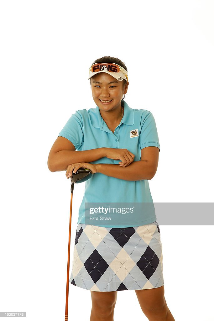 LPGA player Numa Gulyanamitta of Thailand poses for a portrait prior to the start of the RR Donnelley Founders Cup at the JW Marriott Desert Ridge Resort on March 13, 2013 in Phoenix, Arizona.