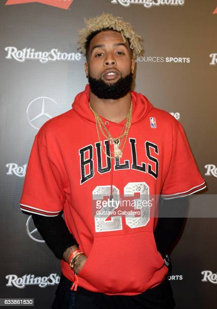 NFL player Odell Beckham Jr at the Rolling Stone Live Houston presented by Budweiser and MercedesBenz on February 4 2017 in Houston Texas Produced in...
