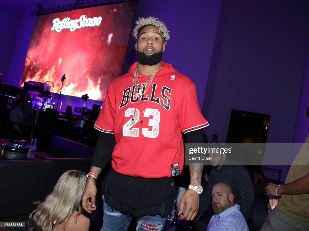 NFL player Odell Beckham Jr. at the Rolling Stone Live: Houston presented by Budweiser and Mercedes-Benz on February 4, 2017 in Houston, Texas. Produced in partnership with Talent Resources Sports.