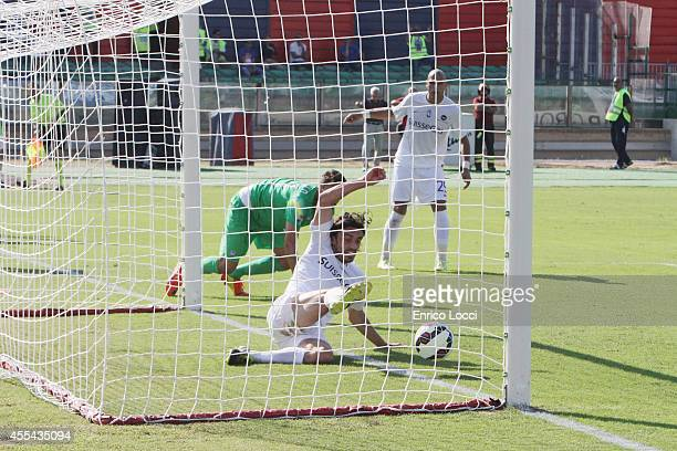 A player of Atalanta in action during the Serie A match between Cagliari Calcio and Atalanta BC at Stadio Sant'Elia on September 14 2014 in Cagliari...