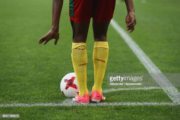 A player of Cameroon kicks a corner during the FIFA Confederations Cup Russia 2017 Group B match between Germany and Cameroon at Fisht Olympic...