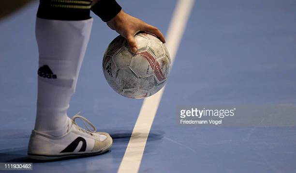 A player of DFB Allstars is seen with the ball during the DFB Futsal Cup at ring arena on April 9 2011 in Nuerburg Germany