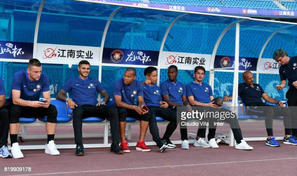 Player of FC Internazionale look on before the press conference on July 20 2017 in Changzhou China