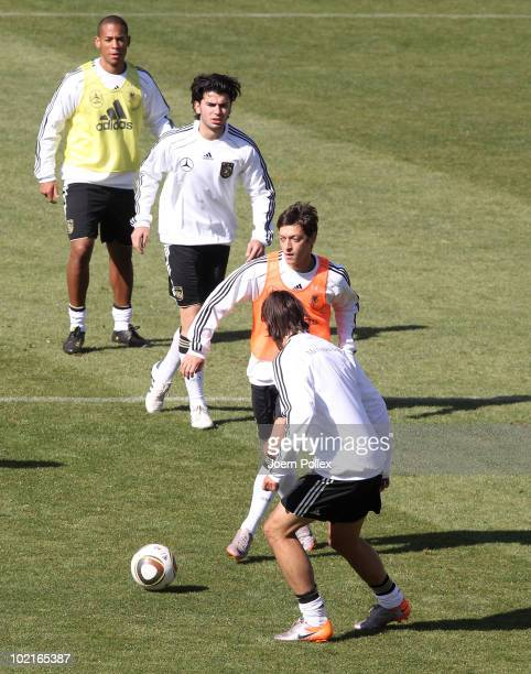 Player of Germany exercise during a training session at Super stadium on June 17 2010 in Pretoria South Africa