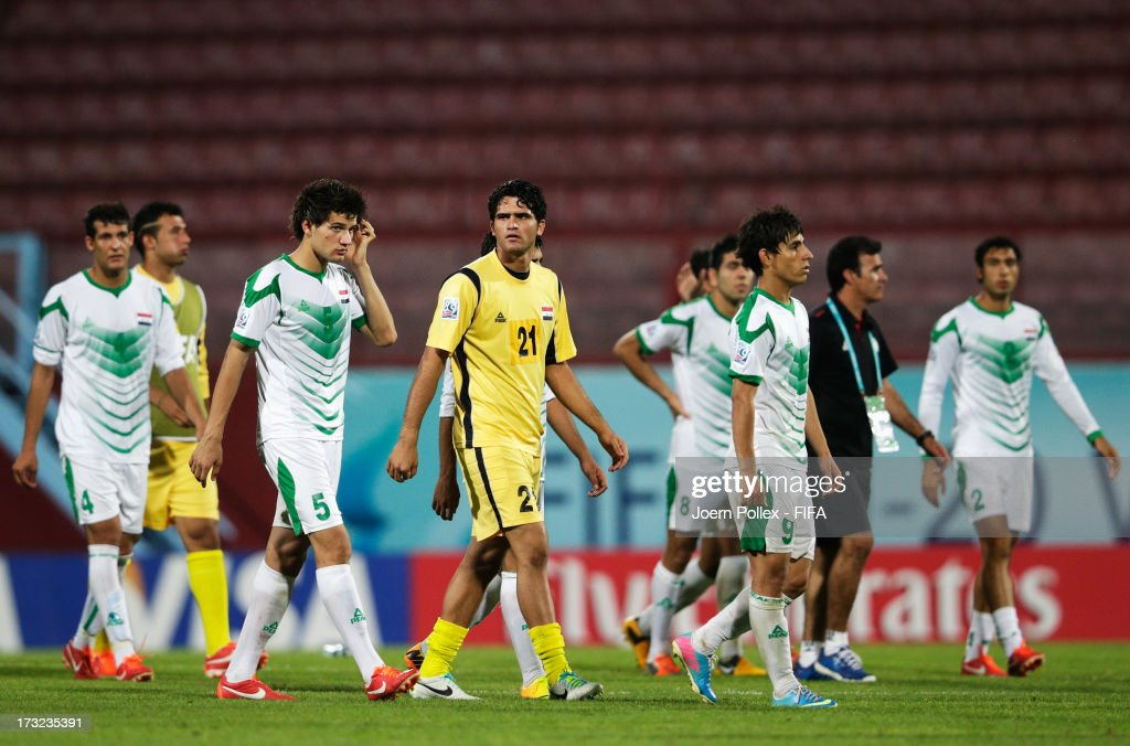 Player of Iraq seen disappointed after loosing the FIFA U-20 World Cup Semi Final match between Iraq and Uruguay at Huseyin Avni Aker Stadium on July 10, 2013 in Trabzon, Turkey.