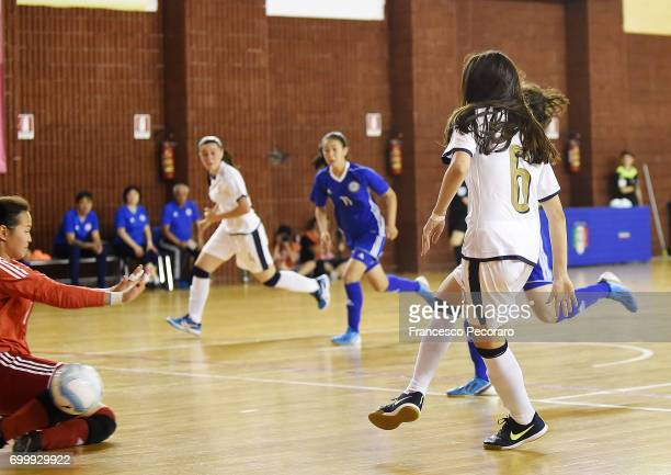 Player of Italy Laura Li Noce scores the 20 goal during the U17 Women Futsal Tournament match between Italy and Kazakhstan on June 22 2017 in...
