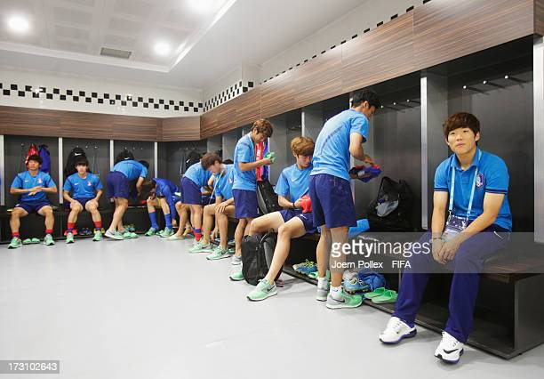 Player of Korea Republic in the dressing room prior to the FIFA U20 World Cup Quarter Final match between Iraq and Korea Republic at Kadir Has...