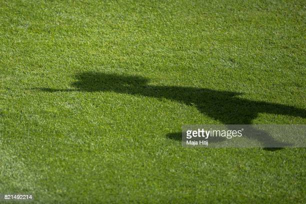 Player of Portugal is shadowed as she trains prior the UEFA Women's Euro 2017 Group D match between Scotland v Portugal at Sparta Stadion on July 23...