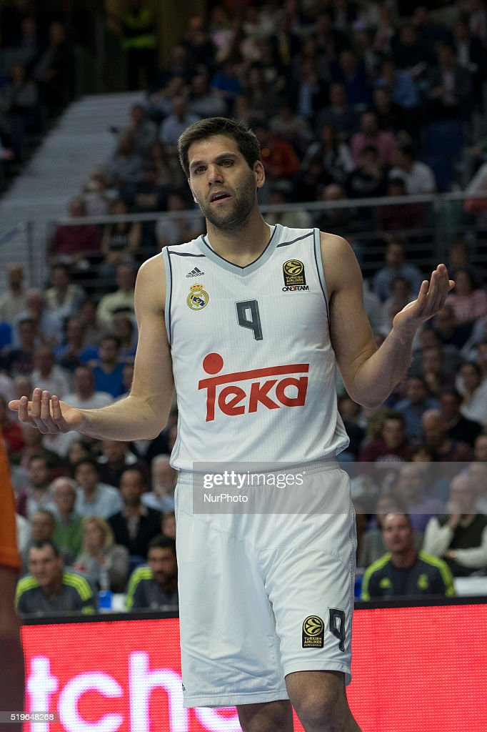 REYES player of Real Madrid during the 2015-2016 Turkish Airlines Euroleague Basketball Top 16 Round 14 game between Real Madrid v Khimki Moscow Region at Barclaycard Center on April 8, 2016 in Madrid, Spain.