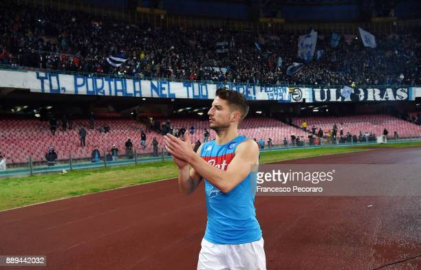 Player of SSC Napoli Dries Mertens shows his disappointment after the Serie A match between SSC Napoli and ACF Fiorentina at Stadio San Paolo on...