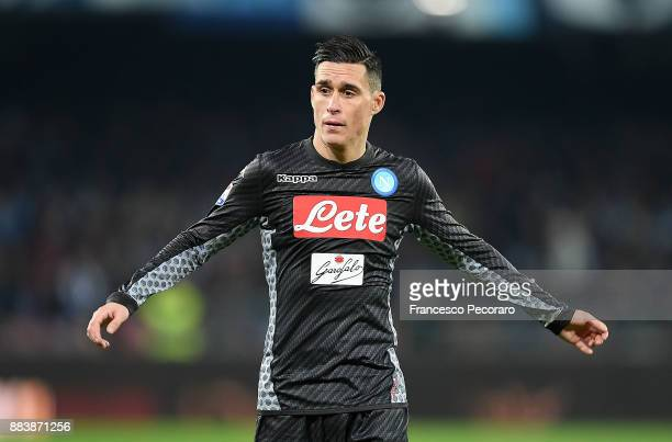 Player of SSC Napoli Jose Callejon looks dejected during the Serie A match between SSC Napoli and Juventus at Stadio San Paolo on December 1 2017 in...