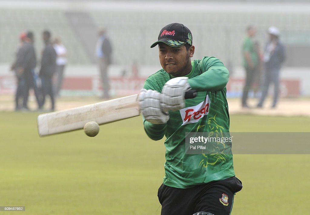 Player of team Bangladesh U19 during a warm-up session before the start of the ICC U 19 World Cup Semi-Final match between Bangladesh and West Indies on February 11, 2016 in Dhaka, Bangladesh.