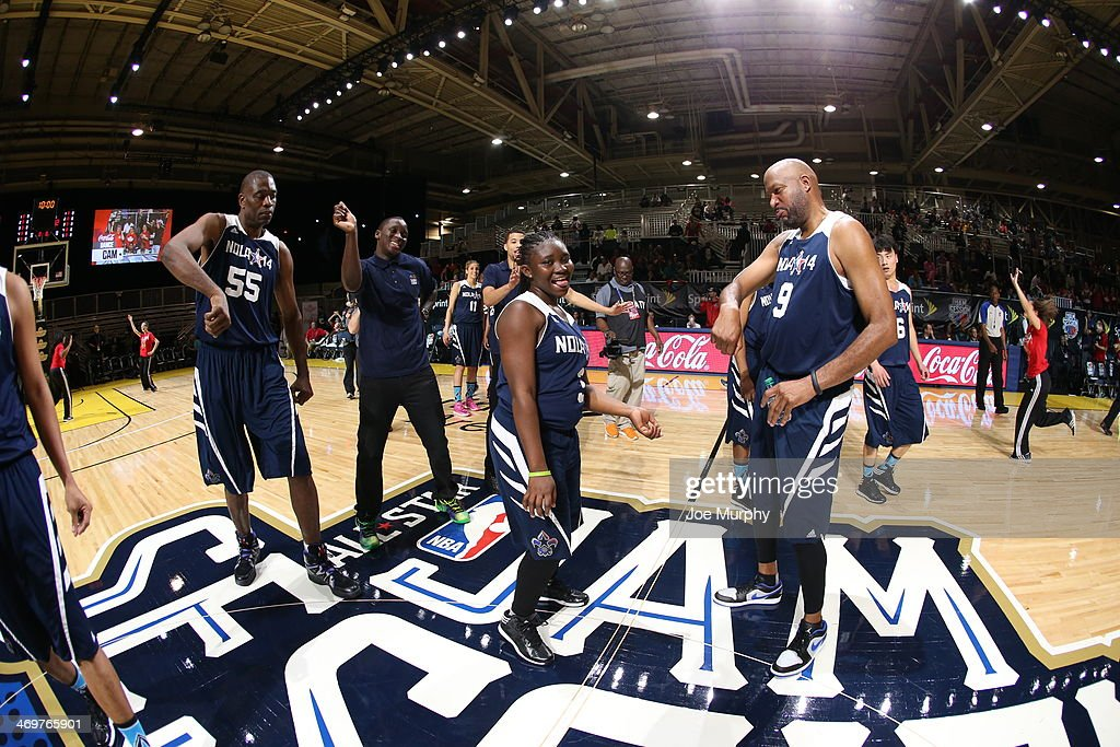Player of the East Team Huddle during the NBA Cares Special Olympics Unified Sports Basketball Game at Sprint Arena during the 2014 NBA All-Star Jam Session at the Ernest N. Morial Convention Center on February 16, 2014 in New Orleans, Louisiana.