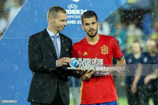 Player of the Tournament Dani Ceballos of Spain during the UEFA U21 Final match between Germany and Spain at Krakow Stadium on June 30 2017 in Krakow...