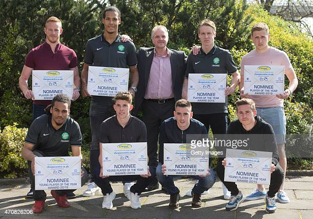 PFA player of the year nominees Adam Rooney of AberdeenVirgil Van Dijk of Celtic Fraser Whishart Scottish PFA chairmanStefan Johansen of Celtic and...