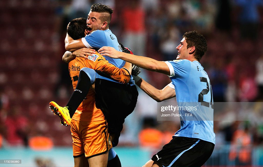 Player of Uruguay after winning the FIFA U-20 World Cup Semi Final match between Iraq and Uruguay at Huseyin Avni Aker Stadium on July 10, 2013 in Trabzon, Turkey.